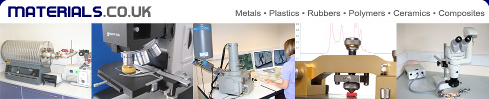 materials.co.uk - metals, plastics, rubbers, polymers, ceramics, composites